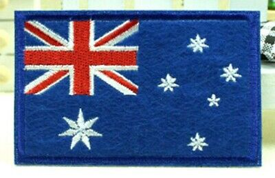 New Australian Australia Flag Embroidery Iron Sewn On Patch 8.7x5.5cm Special