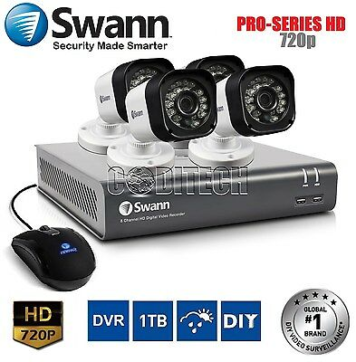 Swann DVR8-1600 - 8 Channel HD-720p 1TB CCTV Kit with 4x PRO-T835 Cameras *