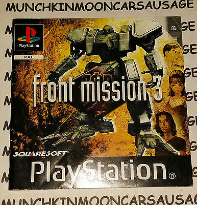 English & German Front Mission 3 Manual ONLY for Sony PlayStation PS1 NO GAME