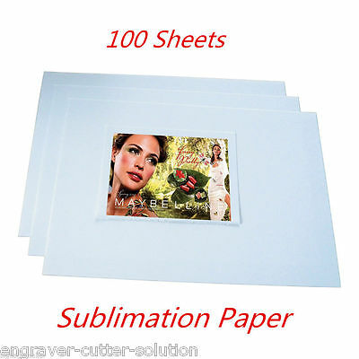 A4 Dye Heat Press Sublimation Paper for Mugs Plates Tiles-- 100 Sheets/pack