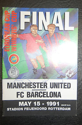 Paul Ince,clayton Blackmore Manchester United Signed 1991 Final Ecwc