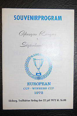 Stgarnkombination V Glasgow Rangers 1972 Friendly Official Programme