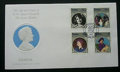 Samoa 1985 Queen Mother FDC