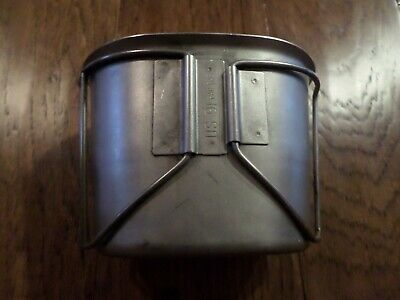 Genuine U.s Military Issue Canteen Cup Heavy Duty With Handles New Old Stock