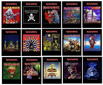 Iron Maiden Cd Singles Covers Non Official Postcards