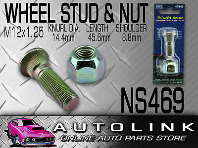 Nice Wheel Stud & Nut To Suit Nissan Patrol Mq Gq Gu Guii 1979 - 2008 Rear Ns469