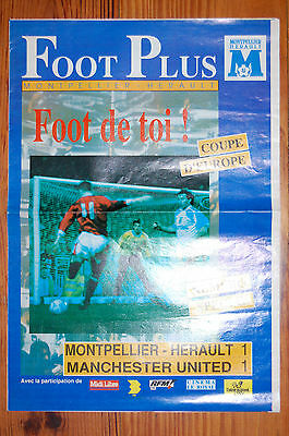MONTPELLIER V MANCHESTER UNITED 1991 Newspaper EUROPEAN CUP WINNERS CUP
