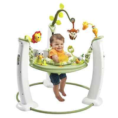 NEW Adjustable Safari Friends Exersaucer Jump&Learn Stationary Jumper By Evenflo
