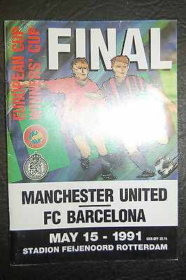 Manchester United V Barcelona 1991 Final European Cup Winners Cup