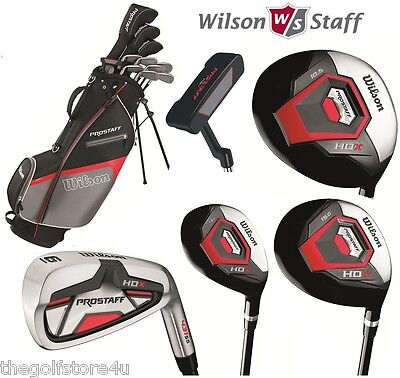 Wilson Prostaff All Graphite Shafted HDX Complete Golf Club Set & Stand Bag New