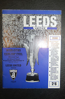 Leeds United V Dinamo Zagreb 1967 Fairs Cup Final Official Brochure