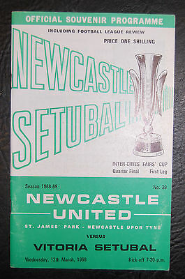 Newcastle United V Vitoria Setubal 1969 Fairs Cup Mint