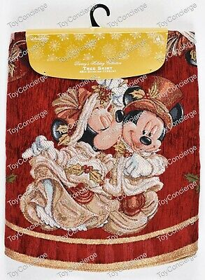 DISNEY Parks HOLIDAY 2015 Tree Skirt MICKEY and MINNIE VICTORIAN CHRISTMAS NEW