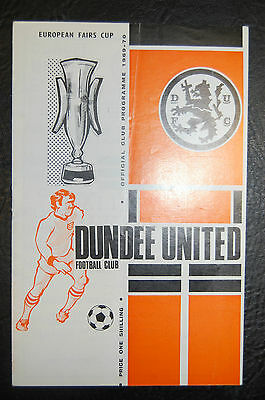 Dundee United V Newcastle United 1969 Fairs Cup