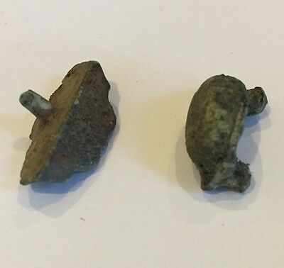 Lot Of 2 Ancient Roman Buttons, Studs CIRCA 2ND CENTURY AD.