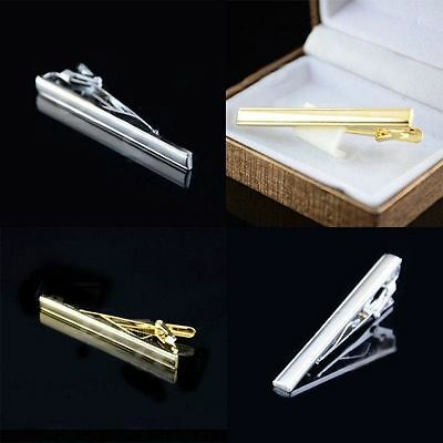 Luxury Men's Neck tie Metal Simple Style Tie Bar Clasp Pin Clip 6cm Tie Pin