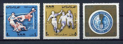 s4769) Y.A.R. 1966 MNH** World Cup Football - Coppa del Mondo Calcio 3v TAX