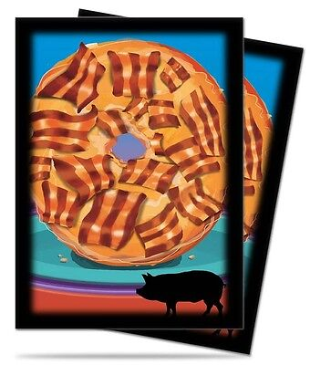 50ct Bacon Donut Pokemon Sports MTG Card Deck Protector Sleeves Ultra Pro