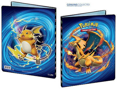 180-Card Cap. 9-Pocket Mega Charizard Raichu-Art Pokemon A4 Album Portfolio XY