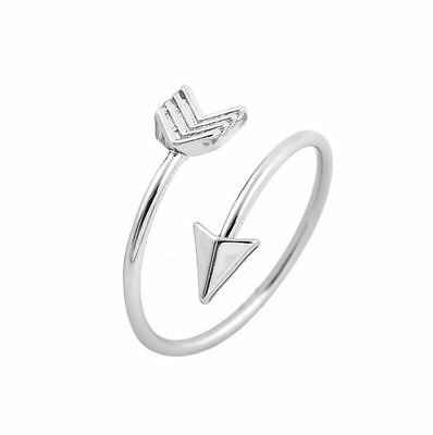 Silver Plated/18K Gold Plated/Rose Gold Plated Dainty Love Heart Arrow Ring