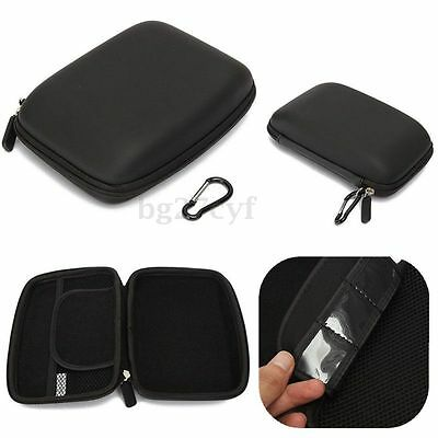 "6"" Hard Shell Bag Carry Case Zipper Cover Pouch for GPS TomTom Garmin Sat Nav"