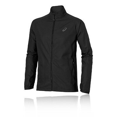 ASICS Lite Show Hombre Negro Thermal Resistente Agua Running Deporte Chaqueta