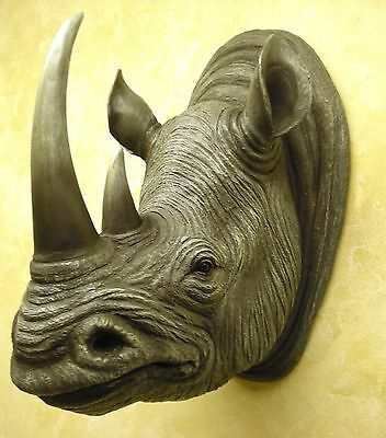 Hd37970 Monolith Rhino Bust Dwk Rhinoceros Statue Figurine Decoration