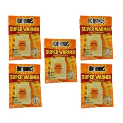 5 Pack HotHands Body & Hand Super Warmer 5 Pack