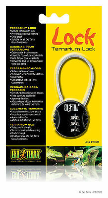Exo Terra Terrarium Combination Lock Reptile Lizard Snake Vivarium Security