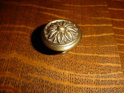"Vintage Brass Flower Drawer/Door Knob/Pull, 1 1/2""dia., other sizes avail"