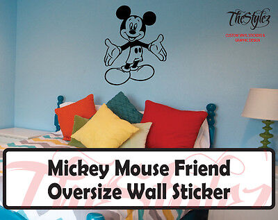 Walt Disney - Mickey Mouse Friend Cartoon Logo Wall Vinyl Sticker