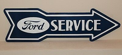 Ford Service Embossed Arrow Metal signs Man Cave Mustang Gas Pump 27'' x 8.5''