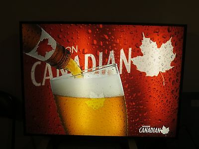 Molson Candian  Beer Illuminated commercial sign
