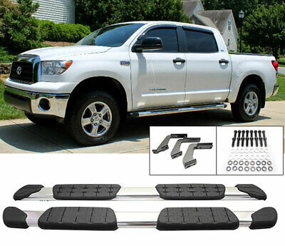 Fit 07-15 Toyota Tundra Double Cab Aluminum Side Step Bars Rail Running Board
