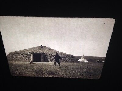 "Edward Curtis ""Bear Emerges"" Arikara Native American 35mm slide"