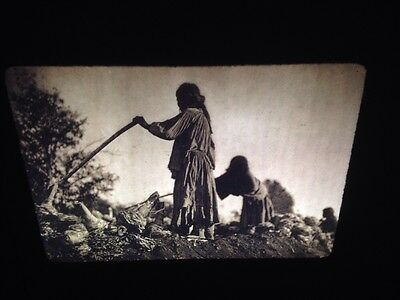 "Edward Curtis ""Filling The Pit""Apache Native American photography 35mm Art slide"
