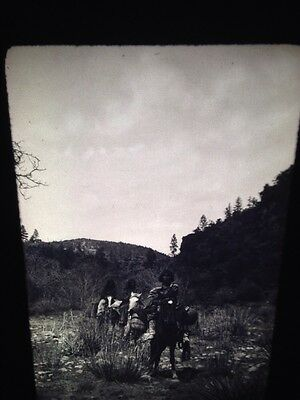 "Edward Curtis ""Land"" Apache Native American Photography 35mm Art Slide"