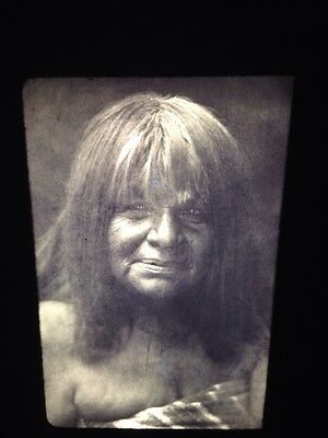 "Edward Curtis ""Havachach"" Maricopa Native American photography 35mm slide"