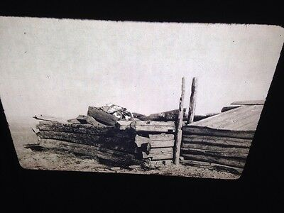 "Edward Curtis ""Grave House"" Piegan Native American photography 35mm slide"