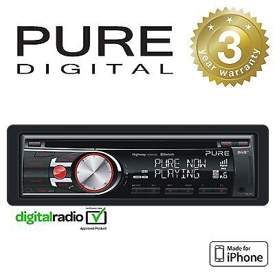 Pure DAB+ Radio Car Stereo CD Player With iPhone Control & Bluetooth Hands Free