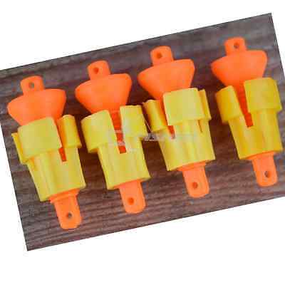 4x Easy Fit Adjustable Pole Fishing Bungs for Elastic
