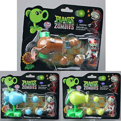 Plants vs. Zombies 2 Figure Snow Pea Coconut Cannon Peashooter Lovely Toy Gift
