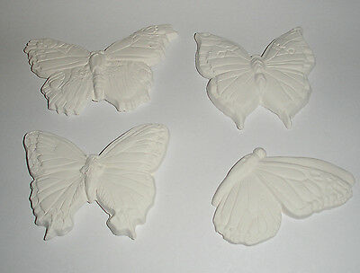 New Lot of 4 highly detailed Butterfly  Glass Fusing / draping kiln molds