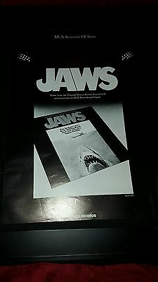 Jaws Rare Original Soundtrack Promo Poster Ad Framed!