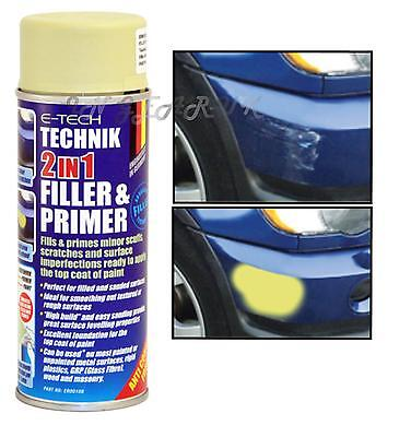 E-Tech 2 in 1 Filler & Primer Car Bodywork Repair Paint Undercoat Foundation NEW