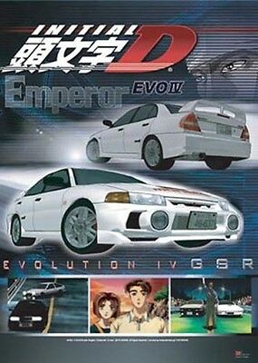 Initial D Poster Emperor Evo IV Anime MINT