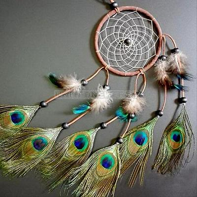 "Dream Catcher Peacock Feather Home Wall Hanging Decoration Ornament-22"" Long HOT"