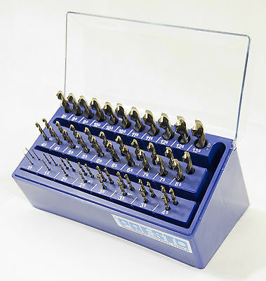 Presto UK 09911M25 metric 55pc 1-13mm + tapping sizes HSco cobalt drill bank set