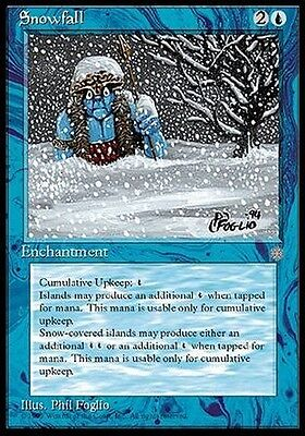 4x Nevicata - Snowfall MTG MAGIC ICE Ice Age Eng/Ita