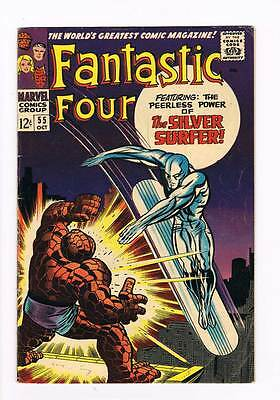 Fantastic Four # 55  Power of the Silver Surfer ! grade 4.5 scarce book !!